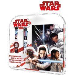Star Wars napló, 6 színű toll és karóra szett