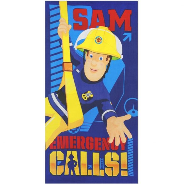 Sam a tűzoltó kék strand törölköző - fürdőlepedő