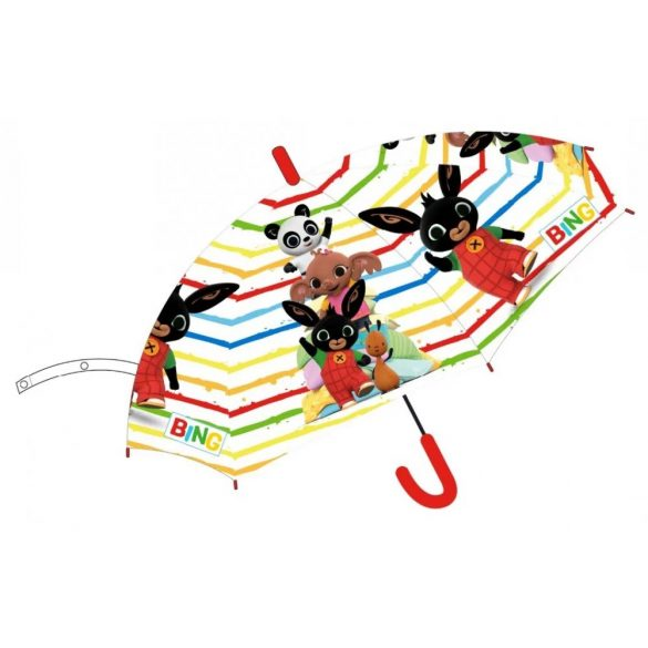 Bing nyuszi gyerek esernyő csíkos