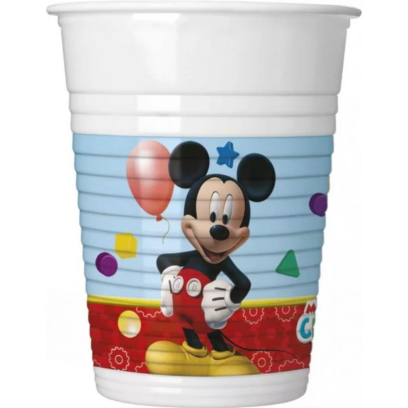 Disney Mickey műanyag parti pohár (8 db-os)