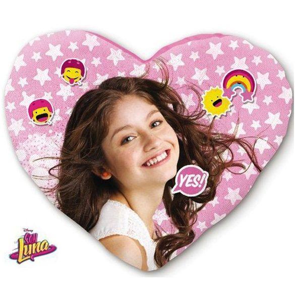 Soy Luna szív alakú díszpárna