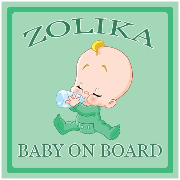 Névre szóló Baby on Board autómatrica - Baby on Board (fiú)