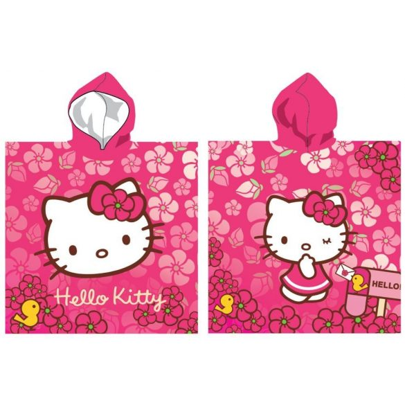 Hello Kitty pamut poncsó