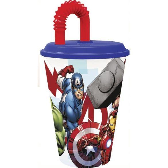 Bosszúállók - Marvel szívószálas pohár 3D
