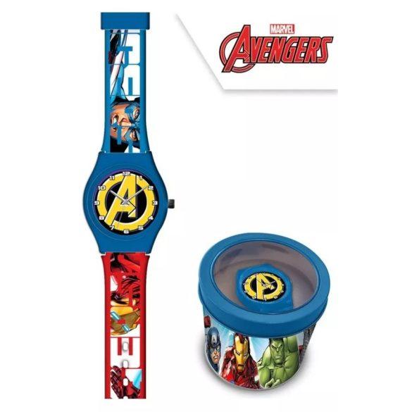 Bosszúállók - Marvel analóg gyerek karóra fém dobozban
