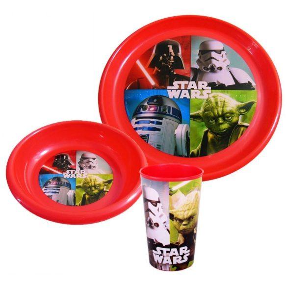 Star Wars műanyag étkészlet