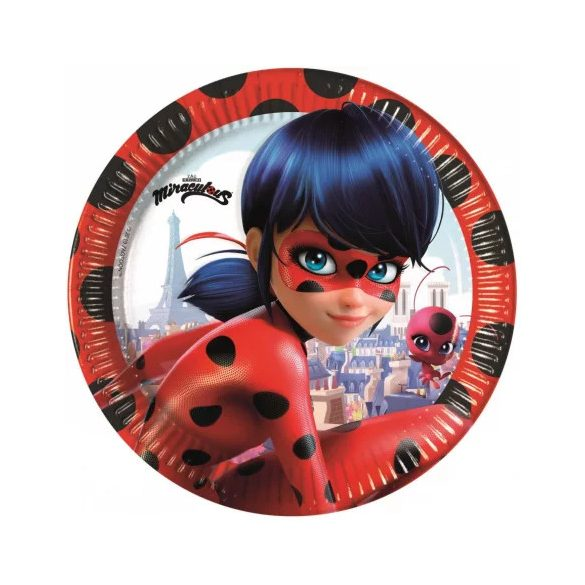 Miraculos Ladybug  / Katicabogár papírtányér (8 db-os)