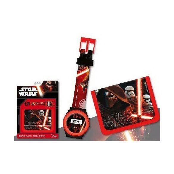 Star Wars digitális karóra és pénztárca szett