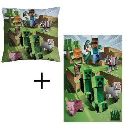 Minecraft takaró és párna szett