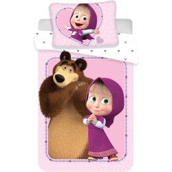 Mása és a medve rózsaszín ovis  ágynemű
