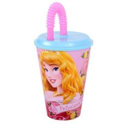 Hercegnők szívószálas pohár 3D