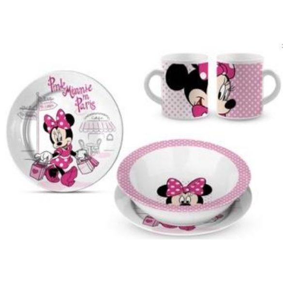 Minnie egér porcelán étkészlet
