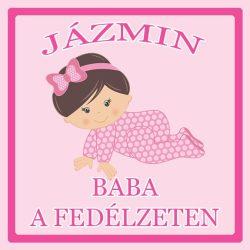 Névre szóló Baby on Board autómatrica - Baba a fedélzeten (lány)
