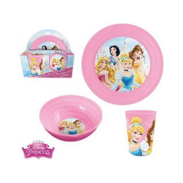 Hercegnők műanyag étkészlet díszdobozban