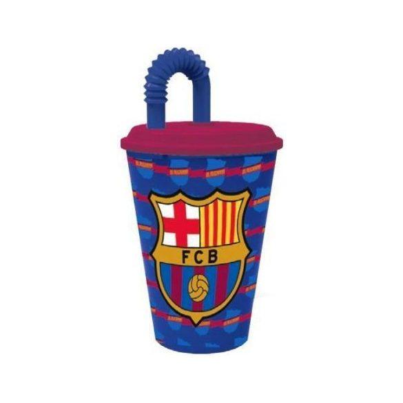 FCB Barcelona szívószálas pohár