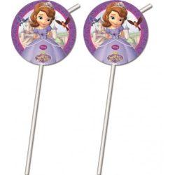 Disney Szófia hercegnő szívószál (6 db-os)