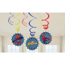 Pókember szalag dekoráció (6 db-os)