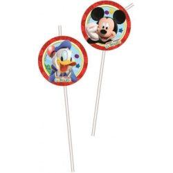 Disney Mickey szívószál (6 db-os)