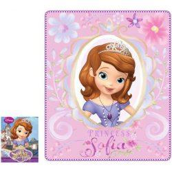 Szófia hercegnő rózsaszín polár takaró