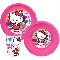 Hello Kitty műanyag étkészlet
