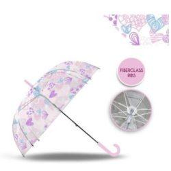 Szív mintás átlátszó esernyő