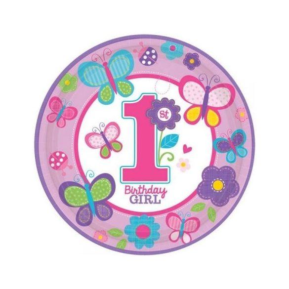 Első születésnapi papírtányér (8db-os)
