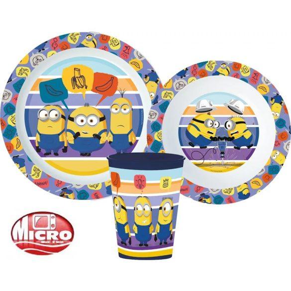 Minions / Minyonok mikrózható gyerek étkészlet