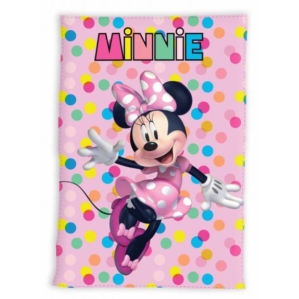 Minnie egér polár pöttyös takaró