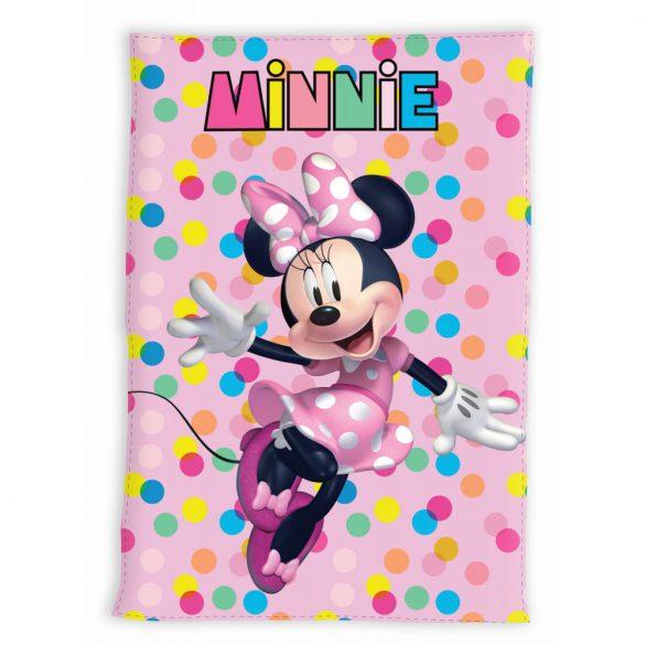 Minnie egér polár takaró - pöttyös
