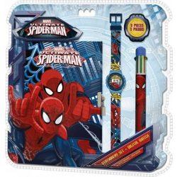 Pókember napló, 6 színű toll és karóra szett