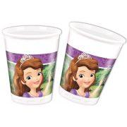 Disney Szófia hercegnő parti pohár (8 db-os)