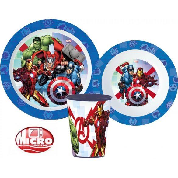 Bosszúállók Avengers mikrózható gyerek étkészlet