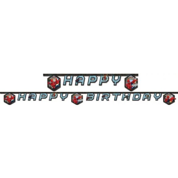 Pókember Happy birthday felirat