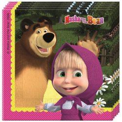 Mása és a medve szalvéta (20 db-os)