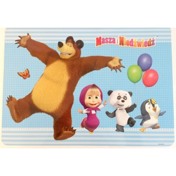 Mása és a medve tányéralátét - lufis