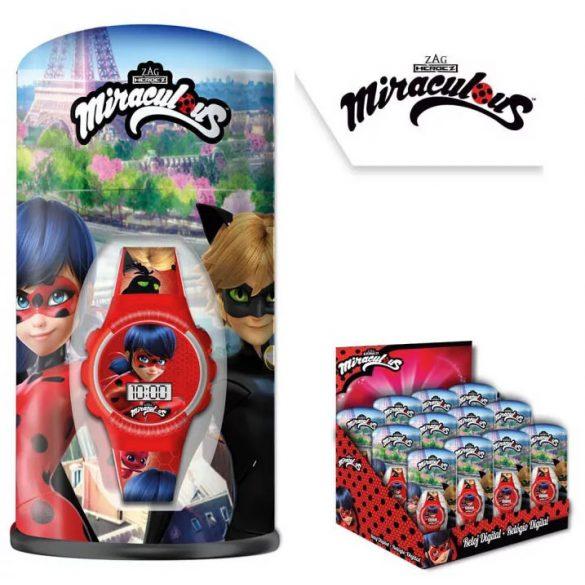 Miraculous Ladybug - Katicabogár és Fekete Macska digitális gyerek karóra + fém doboz