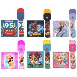 Disney LED elemlámpa, Verdák, Pókember, Jégvarázs, Hercegnők, Mancs őrjárat