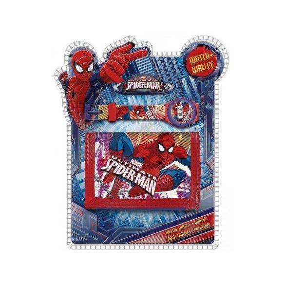 Pókember digitális karóra és pénztárca szett