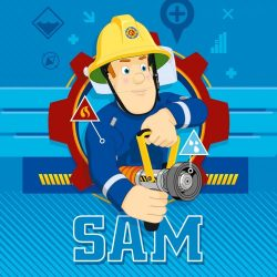 Sam a tűzoltó mágikus kéztörlő, arctörlő