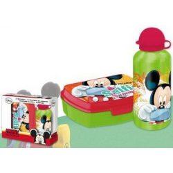 Mickey egér uzsonnás doboz és alumínium kulacs szett