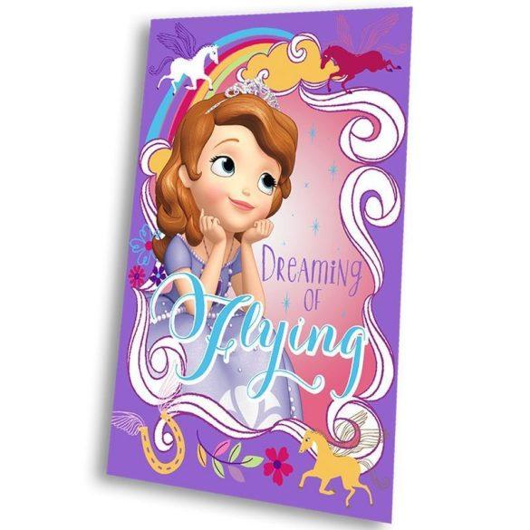 Szófia hercegnő lila polár takaró