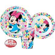Minnie egér mikrózható gyerek étkészlet