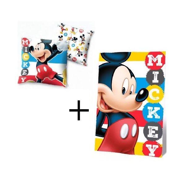 Mickey egér takaró, párna szett