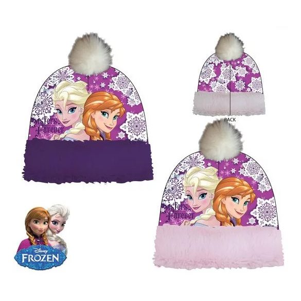 Disney Jégvarázs gyerek lila sapka
