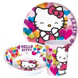 Hello Kitty melamin étkészlet
