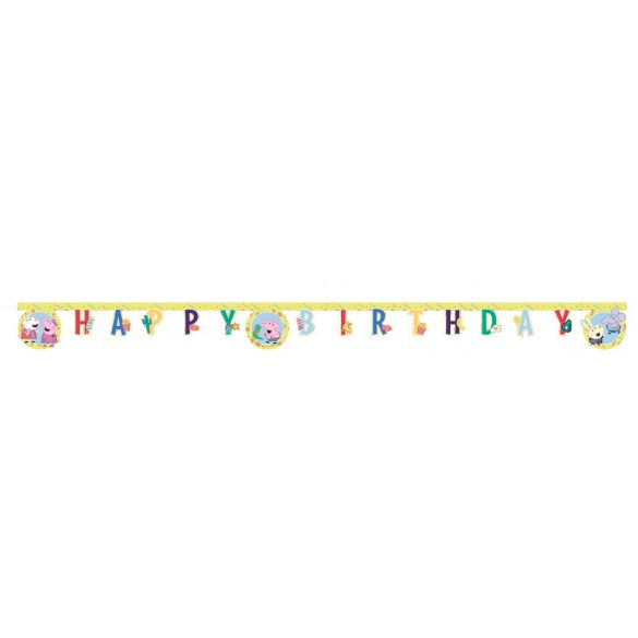 Peppa malac Happy Birthday felirat
