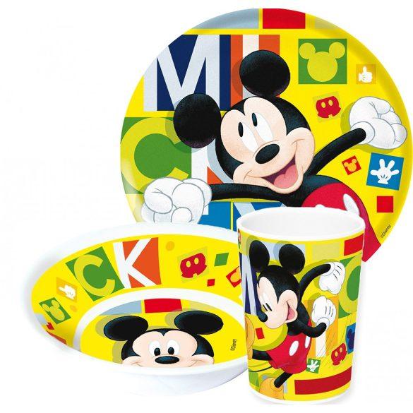 Mickey egér melamin étkészlet