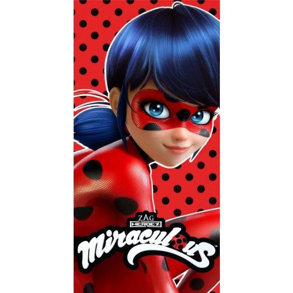 Miraculous Ladybug - Katica és Fekete macska fürdőlepedő / strand törölköző