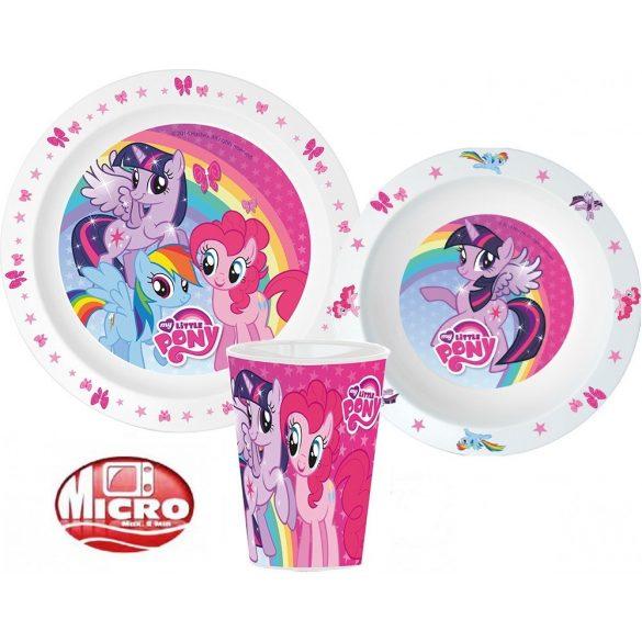My Little Pony/ Én kicsi pónim mikrózható gyerek étkészlet