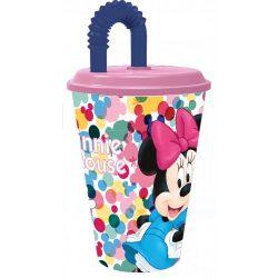 Minnie egér 3 dimenziós szívószálas pohár